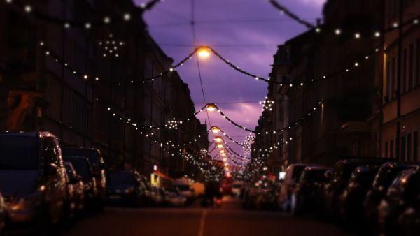 Weihnachtsbeleuchtung auf der Louisenstraße