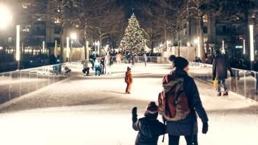 Eislaufen am Jorge-Gomondai-Platz