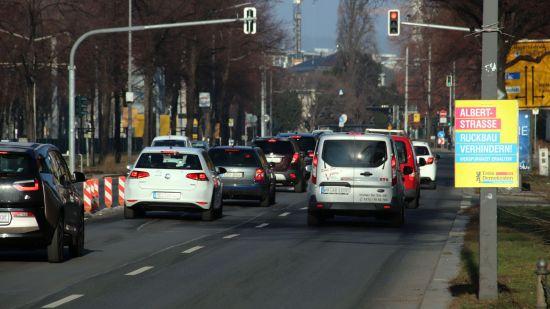 Albertstraße in Richtung Albertplatz