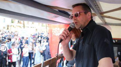 Organisator Martin Schulte-Wissermann (Piraten)