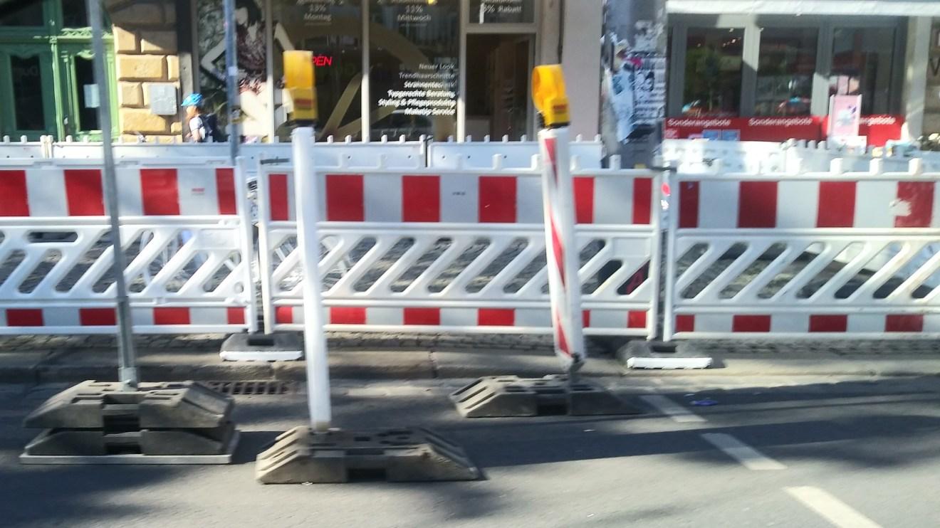 Baustelle Bautzner Straße