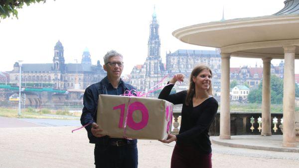 10 Jahre Palaissommer: Jörg Polenz und Katharina Preuß vom Veranstaltungsteam