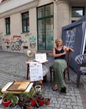 Sukkulenten und Blechkuchen auf der Erlenstraße.