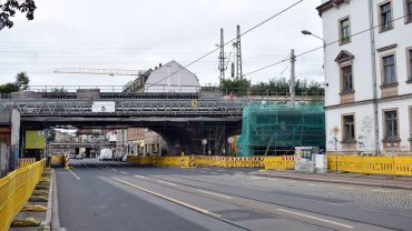 Brücke am Bischofsweg wird saniert. Foto: Nina
