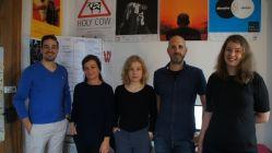 Rico Schwibs, Silvia Zimmermann, Christine Maicher, Lars Leidel und Pauline Nuszkowski vom MOVE IT! Filmfestival