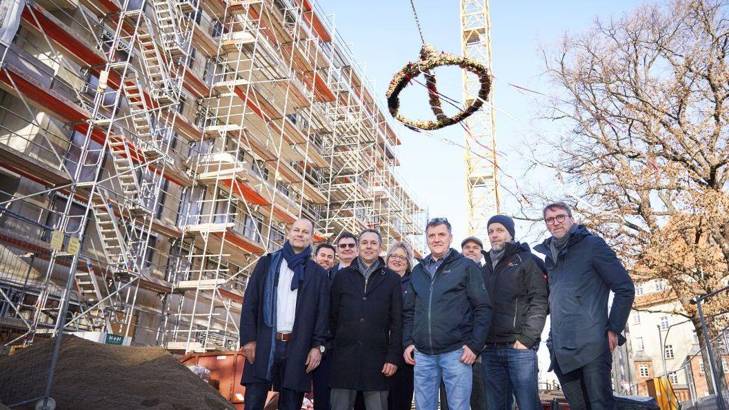 Richtfest am Neubau - Foto: AOC Immobilien AG, Tom Dachs