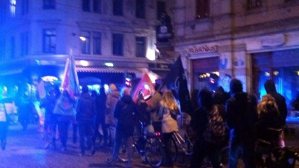 Anti-FDP-Demo durch die Neustadt