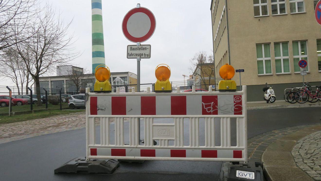 Baustelle an der Hafenstraße