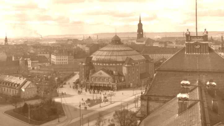 Sarrasani-Zirkus am Carolaplatz - Foto von 1914
