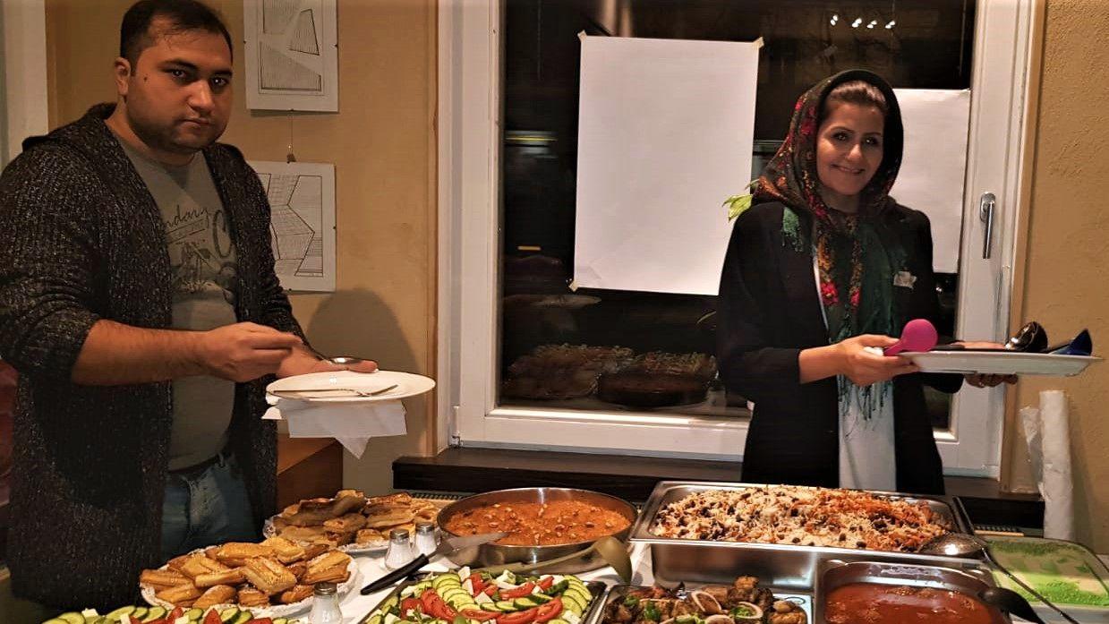 Mohamand und Suma werden afghanisch kochen.