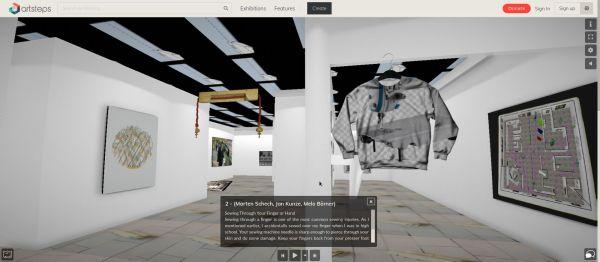 """Im virtuellen """"Space Baitler"""" wird am 19. Mai die Ausstellung """"Nähmaschine des Grauens"""" eröffnet."""