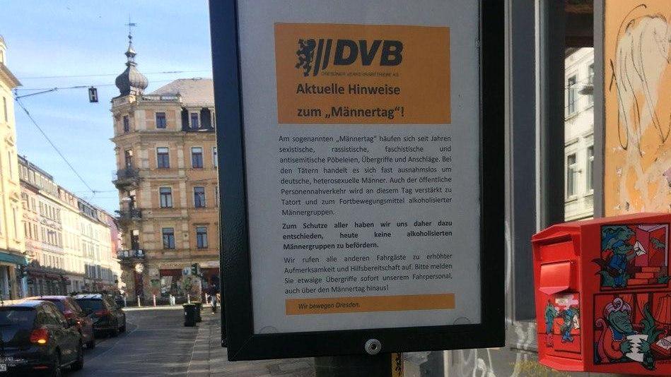 Unter anderem an der Rothenburger Straße waren derartige Hinweiszettel angebracht. Foto: Filou