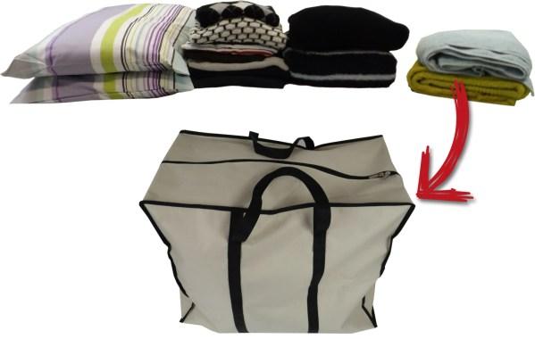 70L bag clothes fit