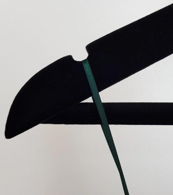 Close up of hanger notch