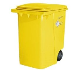 yellow offensive waste bin