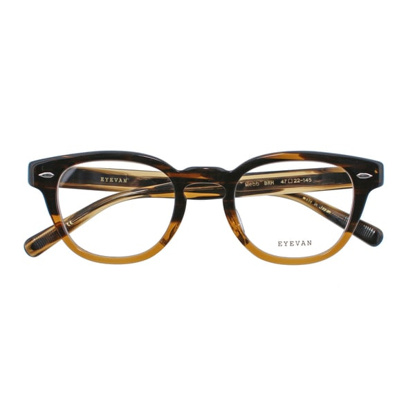 [POKER FACE]EYEVAN アイヴァン Webb ウェブ 47サイズ BRH(BROWN HALF) 眼鏡(BRH): POKER FACE メガネ・サングラスの通販 ...