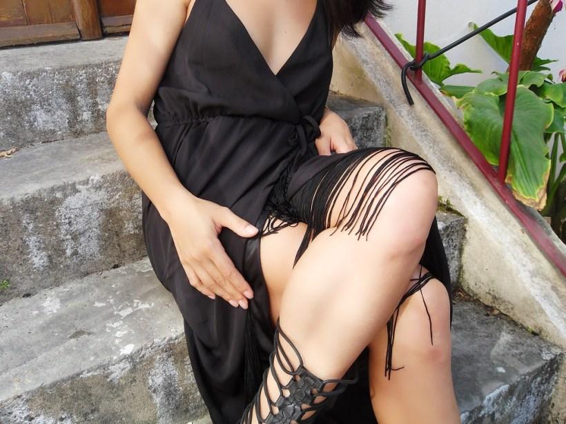 Vestido preto boho