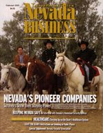 Nevada Business Magazine February 2003 View Issue