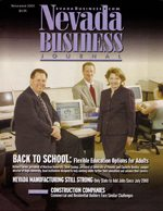 Nevada Business Magazine November 2003 View Issue