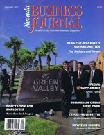 Nevada Business Magazine September 1991 View Issue