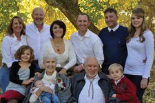 Debi, Kurt, Ember, Chris, Clint & Tyffani Henning; Kamiah, Lillian (baby), Pat, Howard & Miles Henning Fallon Auto Mall