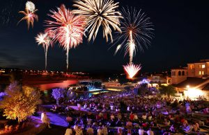 Get a jump on celebrating America's Independence Day a day early amid the unique lakeside setting of Lake Las Vegas.