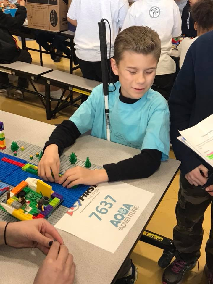 Visually Impaired Students Compete in LEGO Robotics Competition