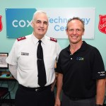 Major Kinnamon and David Diers at The Salvation Army Cox Technology Center lr