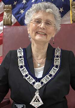 Treasurer Elsie Durgin