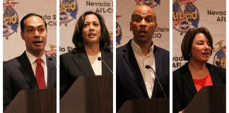 Democratic presidential candidates at afl-cio convention
