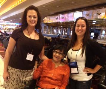 Council staff Kari Horn joins statewide president Santa Perez and Family Ties Project Director at the 2015 Nevada Disabilities Conference