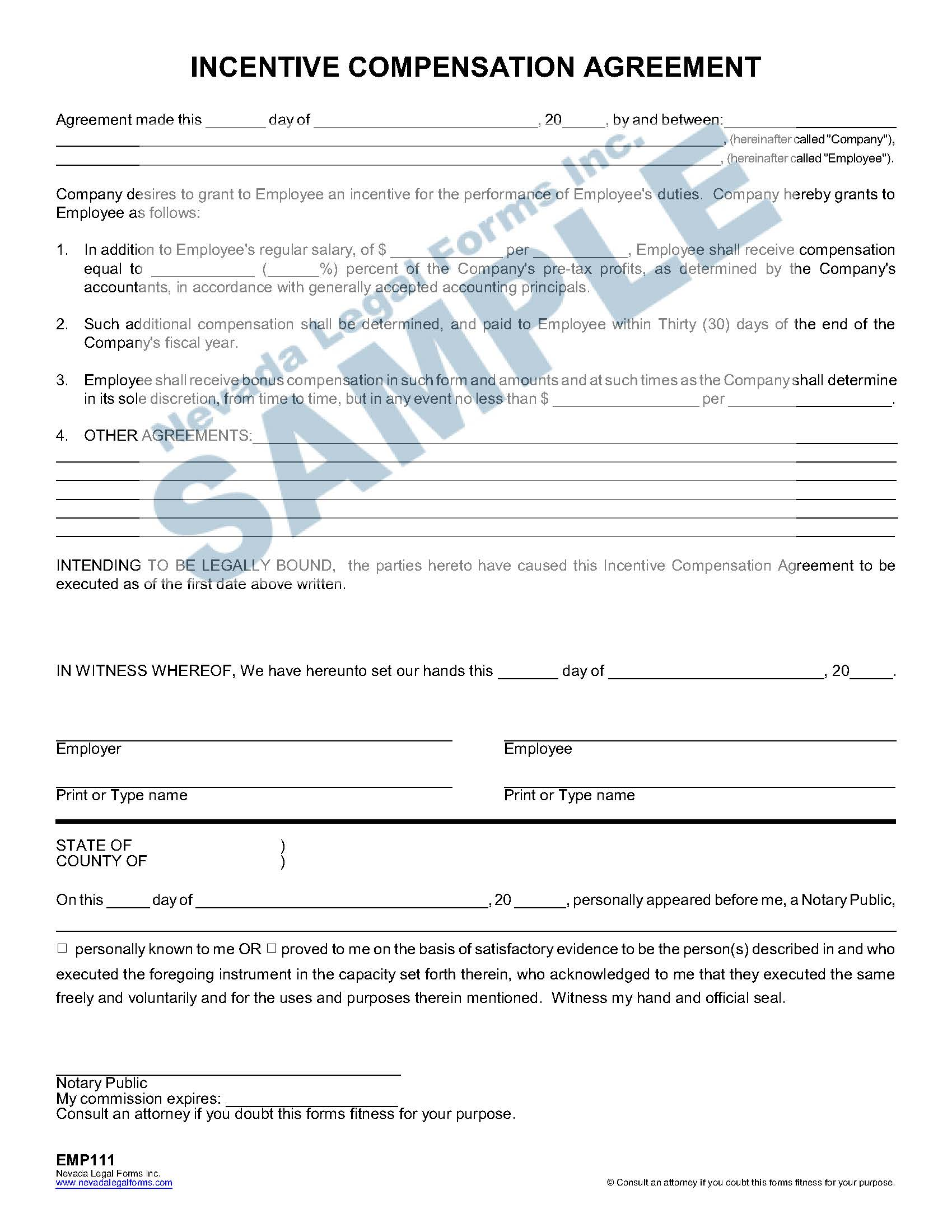 Incentive Compensation Agreement