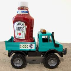 Guggenheim Globetrotters World Tour: Yemen // Toy truck and ketchup bottle // 15 x 12 x 6 inches // 2011