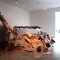 Peggy's Grotto // Wood, acrylic paint and cardboard // Dimensions variable // 2011