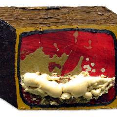 CH.1: Zombie TV // Oil on MDF, Expandable Foam & Gesso // 30 x 43 x 5 cm // 2001