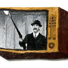 CH.15: Saddam Bronson // Oil on MDF // 36 x 53cm // 2002