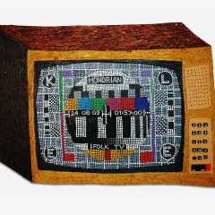 CH.70: Aboriginal Boogie Woogie Walkabout down Pixelate Boulevard // Oil & Acrylic on MDF // 93 x 132cm // 2005