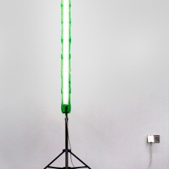 GM# 32: 10lt. of Electrictree // Mobile Light Stand, Steel Tubing, Fluorescent Tube & Fitting, Tie Wraps, Plastic Bottles // 200 x 60 x 60 cm // 2009