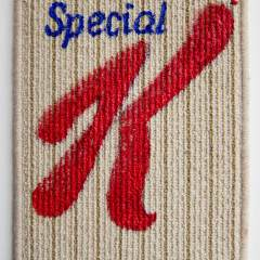 K // Acrylic on Carpet, Brass Eyelets // 40 x 30 cm // 2014