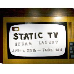 Static TV Logo // Butler Gallery Installation // Mixed Media // 2007