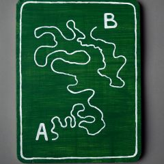 49 Signs of Painting // Acrylic Paint on Treated Wood, Brackets // 30 x 40 cm // 2008