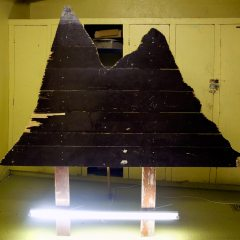 Illuminated Brown Mountain // Wood, Screws, Florescent Light // 150 x 170 cm // 2008