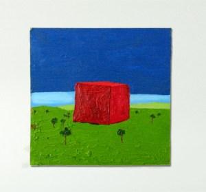 The Pyramid of Eejit (turn right at Tallaght) // Oil on Board // 29 x 29 cm // 2001