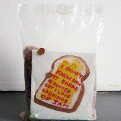Los Angeles Slave Sandwich // Ralphs Bran Flakes, Wood, Acrylic Paint // 40 x 30 x 15 cm // 2011