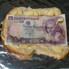 Bankers Bonus Bread & Butter Buttie // PR Invite Image // Relational Dimensions //2009