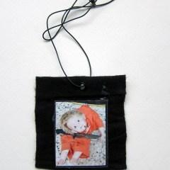 Rita Katz Kids (Meditated Media Medals) // Laminated Digital Print, Felt, Eyelet, Glue, Wire // 8 x 8 cm // 2016