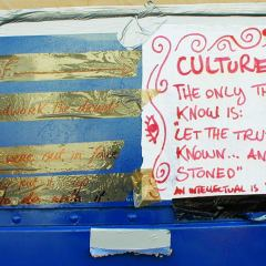 Signs of Stoner Culture // Packaging Tape, Permanent Marker, Paper // 2005