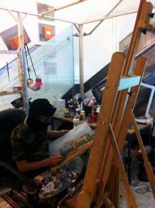 Remote Painter @ work in the Studio // Painting Performance // 2015