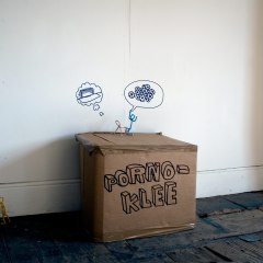 Empty Goal Technologies // Pipe Cleaners, Cardboard, permanent Marker, Packaging Tape// 40 x 60 x 30 cm // 2007