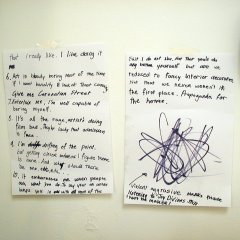 Feeding the Well Feed // A4 Sheets of Paper, Permanent Marker, Transparent Tape // 2003